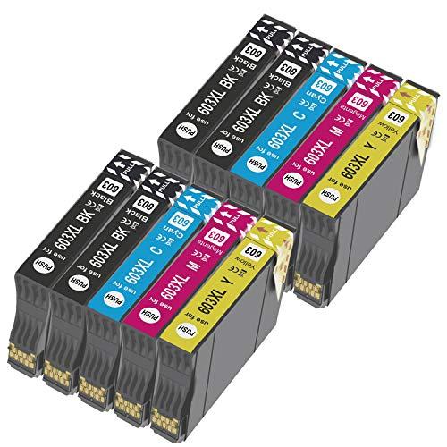 Teland - Cartuccia di inchiostro compatibile per Epson 603 603XL per Expression Home XP-2100 XP-2105 XP-4105 XP-4100 XP-3105 XP-3100 Workforce WF-2850DWF WF-2835DWF WF-2830DWF WF-2810DWF (10 PK)