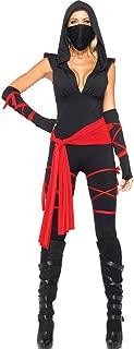 Leg Avenue 85087 Deadly Ninja Adult Costume - Large - Black/Red