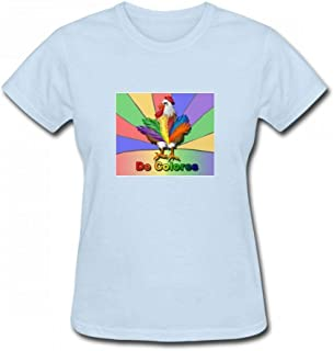トップス ルースターテールデコロール Women T-Shirt レディーズ Tシャツ