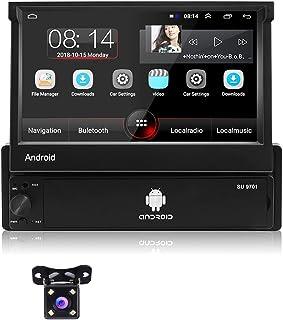 "Radio de Coche Android, Podofo 1 DIN Autoradio con Bluetooth Manos Libres, 7"" Pantalla táctil Reproductor de Video GPS con..."