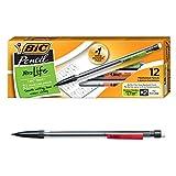 BIC Xtra-Life Mechanical Pencil, Clear Barrel, Medium Point (0.7mm), 12-Count , Black