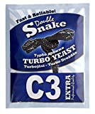 Double Snake C3 Home Brew High Alcohol Spirit Cider Turbo Yeast Makes 25 L, Fast and Pure Fermentation