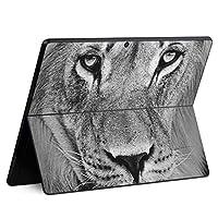 igsticker Surface Pro X 専用スキンシール サーフェス プロ エックス ノートブック ノートパソコン カバー ケース フィルム ステッカー アクセサリー 保護 001051 アニマル ライオン 動物