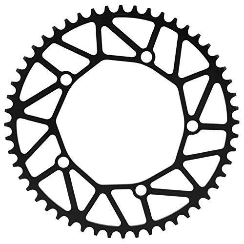 Uxsiya ZTTO Ultra-ligero LP Bike Positivo & Negativo Dientes Single Chainring Excelente artesanía robusta 130BCD Cadena Accesorio de bicicleta para montar en sendero (52T)