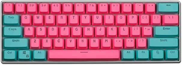 Taide 61 Key ANSI Layout OEM Profile PBT Thick Keycaps for 60% Mechanical Keyboard (Color 19)