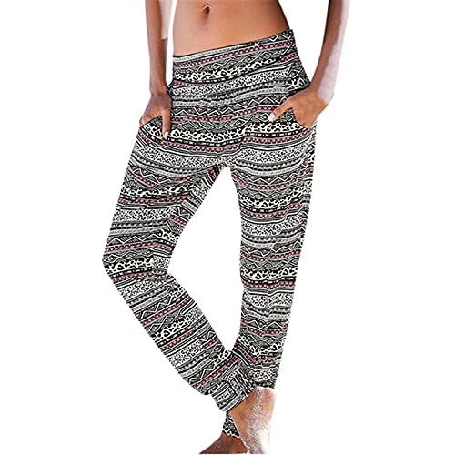 BHSJ Women's All Around Elastic Waist Polyester Petite Pants Poly Proportioned Medium Solid/Tie-Dye Casual Comfy Wide Leg Palazzo Lounge Pants Gaucho Casual Pants for Women Cropped Rrousers