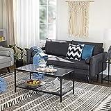 VASAGLE Sofa 3 Sitzer, Couch mit Bezug aus Leinenimitat, 180 x 82 x 83 cm, Polstermöbel für kleine Wohnungen, Gästezimmer, Jugendzimmer, mit Holzgestell, einfacher Aufbau, grau, LCS10GY - 2