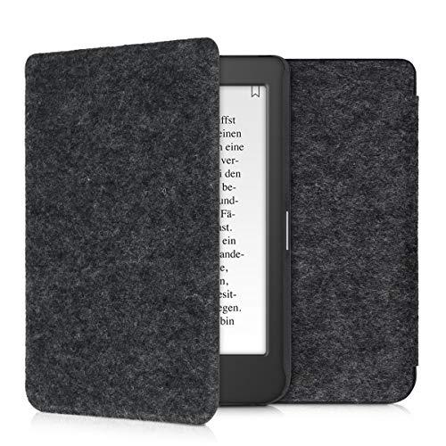 kwmobile hoes compatibel met Tolino Page 2 – e-reader beschermhoes van vilt – donkergrijs