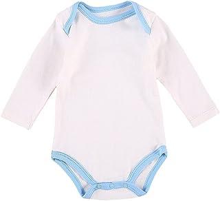 طفل الفتيات أولاد لون الربط رقبة مستديرة اكمام طويلة السروال القصير طفل صغير مضلع بذلة (Color : Blue, Kid Size : 6M)