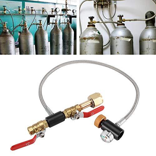 【𝐎𝐬𝐭𝐞𝐫𝐧】 CO2-Nachfülladapter mit Schlauch, Edelstahl G1/2 CO2-Nachfülladapter mit Schlauch mit Bedienungsanleitung zum Befüllen des Soda-Stream-Tanks(24 inch With Gauge)