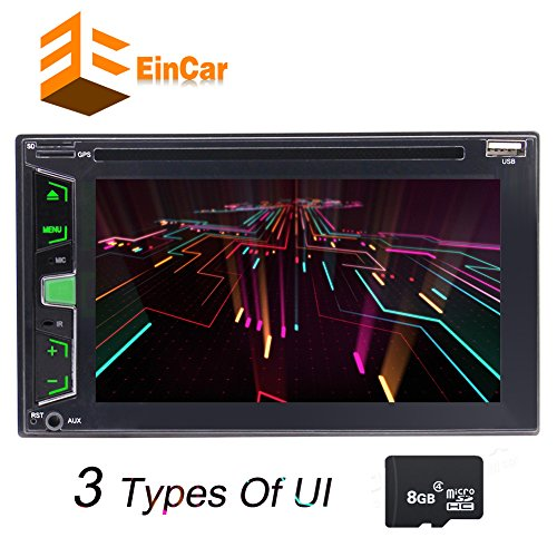 """Double 2 Din 6.2"""" Car Stereo DVD CD MP3 Player HD in Dash Bluetooth Car Radio DVD Player Support Backup Camera Subwoofer 3 Types of User Interface Dual Zone Function GPS Navigation Remote Control"""