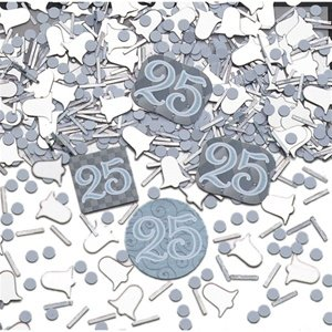 amscan Mélange de confettis pour fête 25 Ans Ensemble
