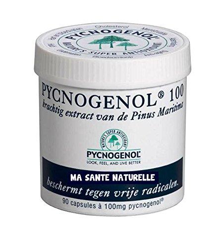 PYCNOGENOL 100 mg (per capsula) 90 capsule vegetali (dosaggio per 3 mesi) - estratto di corteccia del pino marittimo che spinge sulle coste sablonneuses al sud di Bordeaux