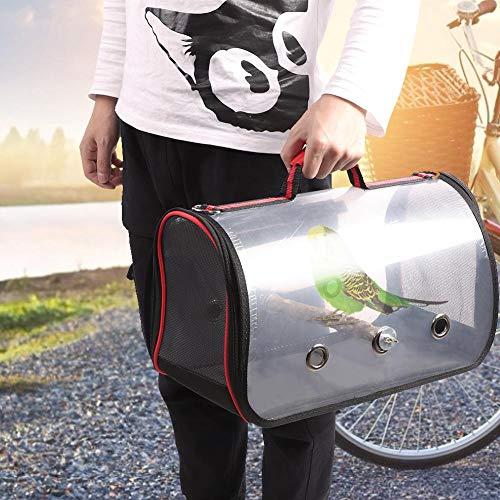 Huairdum Kunststoff im Freien transparente Vogeltasche Vogel Reisekäfig, faltbar leicht groß atmungsaktiv für Vogel Haustier(small)