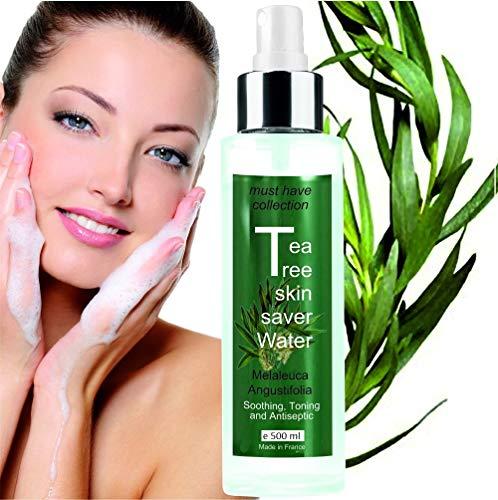 Teebaumwasser T-Baum Floralwasser – Hydrolate Tonic-Lotion (500 ml) Teebaumwasser - rein biologisch Zur AKNE neigende HAUT