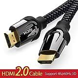Taurusb 4K HDMI-Kabel, HDMI-Kabel HDMI Zum HDMI Kabel 4K HDMI 2.0 3D 60FPS Kabel Für Splitter-Schalter LCD-Fernseher Laptop PS3 Projektor Computerkabel,2m