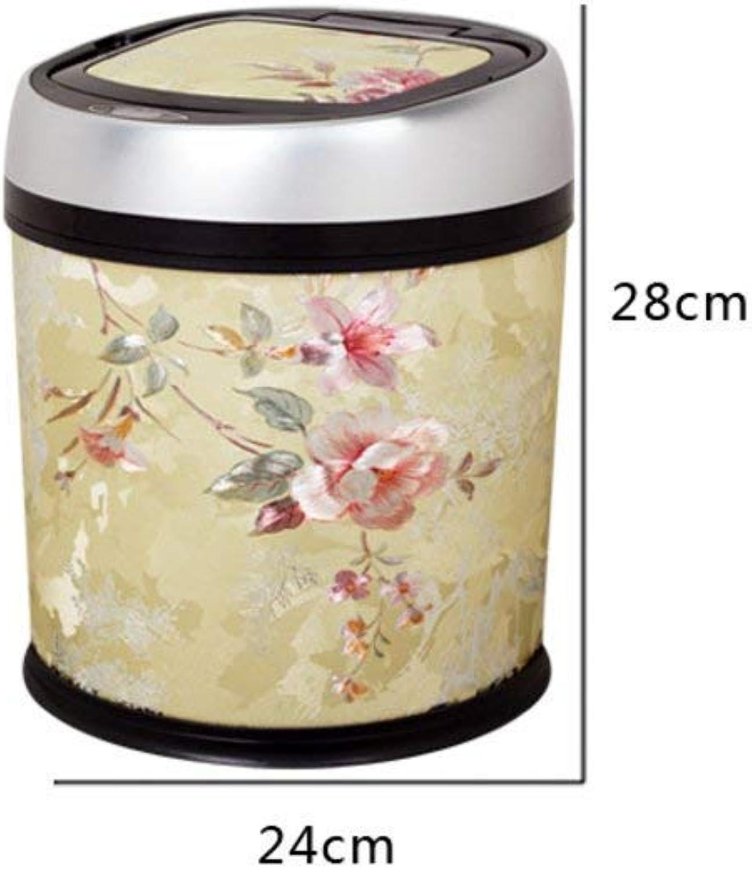 LJT Cocina Dormitorio   Papelera de la Oficina, Bote de Basura, detección de contenedores de residuos silenciosos Lisos y Elegantes para baos