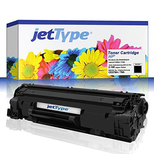 jettype tóner (equivalente a HP CE278A/78A para LaserJet P1606dn/Pro M1536dnf/Pro P1606DN/P1566/Professional P1606dn/Pro P1566, Negro, 2.100páginas