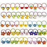 50 Stück Haargummis Mädchen, Myhozee 5 Stile Scrunchies Multicolor Haar Gummibänder Haarbänder Elastischer Haarschmuck Haarseil Pferdeschwanz Haarband Set für Kinder, Babys, Mädchen & Frauen