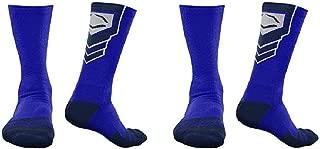 EvoShield Performance Crew Socks (Royal Blue w/Navy/Large / 2 Pair)
