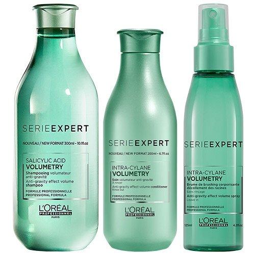 L'Oréal Professionnel Serie Expert Volumetry Shampoo (300 ml), Conditioner (200 ml) und Ansatzspray (125 ml) im Set