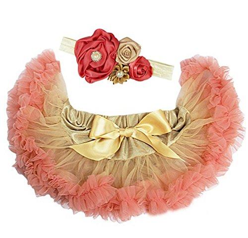 Kirei Sui Baby Gold Blush Pink Pettiskirt Headband Set