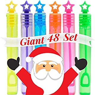 Party Favors for Kids Party Bubble Pack - 48 Bulk Bubbles Party Favors - Kids Party Favor Multi Pack - Birthday Party Favors - Stocking Stuffers Mini Bubble Wands