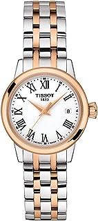 ساعة تيسوت للرجال كلاسيك دريم ستانلس ستيل ذهبي أحمر T1292102201300