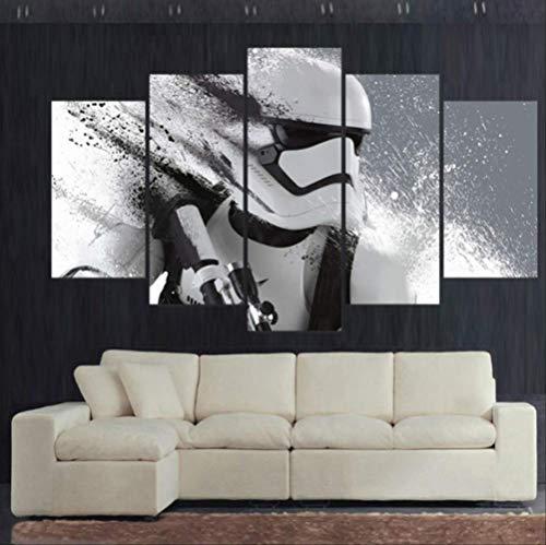Moderne Leinwand Kunst Wand Gedruckt Plakatrahmen 5 Panel Movie Star Wars Charakter Bilder Wohnkultur Wohnzimmer Malerei