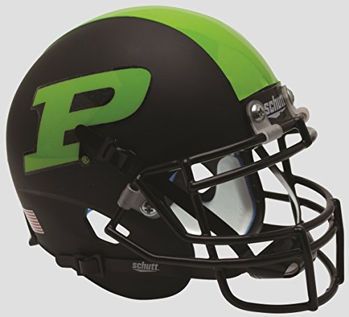 Schutt NCAA Purdue Boilermakers Mini Authentic XP Football Helmet, Matte Black and Green Alt. 3, Mini