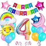 Bluelves Palloncini Compleanno 4 Anno,...