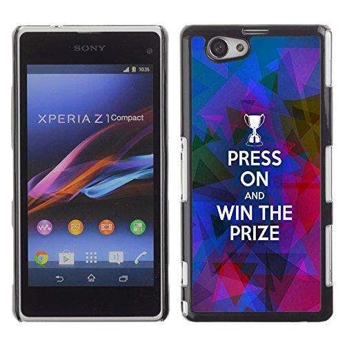 DREAMCASE Bibelzitate Bild Hart Handy Schutzhülle Schutz Schale Case Cover Etui für Sony Xperia Z1 Compact D5503 - Presse auf und gewinnen den Preis