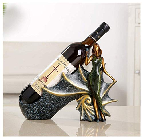 Estante Resina Para Botellas Vino,Pretty Woman Wine Rack Craft Adorno,Escultura Personajes Estante Para Botellas Vino Ventana Gabinete Para Vinos,Sala Estar Cocina Obra Arte Decoración Regalos(Verde)