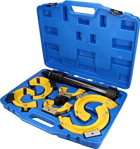 Brilliant Tools BT651200 Jeu de compresseurs de Ressorts | 7 pcs | coupelles gainées PVC, Bleu/Noir, 7-TLG