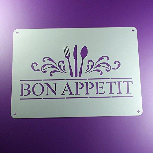 Schablone Bon Appetit Gabel Messer Löffel - BO94