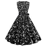MA87 Vestido de fiesta de graduación sin mangas para mujer, estilo vintage de los años 50, con estampado retro xx-large