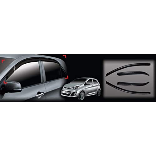 AUTOCLOVER A131 Smoke Window Visor Vent 4-pc Set For 2011 2012 2013 Kia Picanto