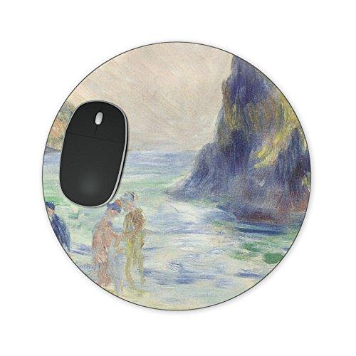 Renoir Guernsey Art Schilderij Mousepad - Neopreen voor Optische & Lasermuis Round Mousepad Blauw