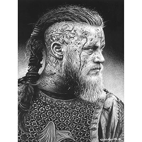 Ragnar Vikings Warrior Wayne Maguire Unframed Wall Art Print Poster Home Decor Premium Guerra Pared Póster Casa
