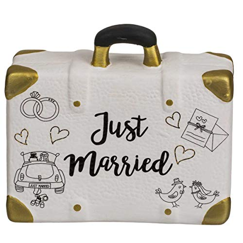 OOTB 719206 Spardose, Reisekoffer, Just Married