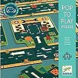 Djeco- Pop to Play Carreteras Circuitos y playsets para Coches de Juguetes (37162)