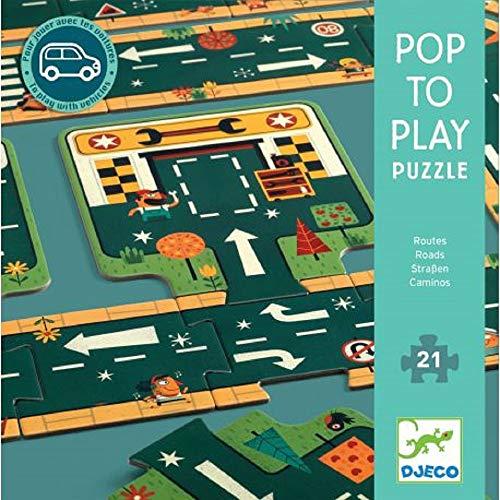 Djeco  Pop to Play Carreteras Circuitos y playsets para Coches de Juguetes (37162)