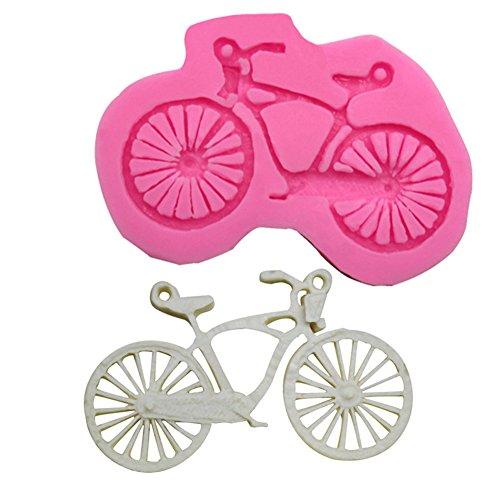 CAOLATOR Stampo in silicone con disegni animati da bicicletta, stampo per torta di compleanno fai da te pratico strumento cioccolato/budino