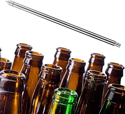 SYGoodBUY Botella de cerveza de acero inoxidable de 13.7 pulgadas de llenado de botellas de cerveza con resorte de cerveza de vino Homebrew Accesorios de embotellado para la fabricación de vino