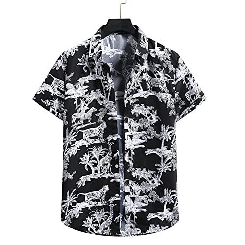 SSBZYES Camisas De Hombre De Manga Corta De Verano Camisas De Flores para Hombres Camisas De Flores De Manga Corta para Hombres Camisas De Flores De Playa Camisas Hawaianas