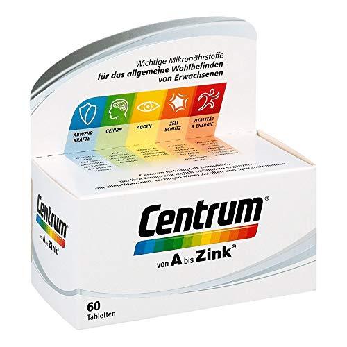 Centrum Von A bis Zink – Hochwertiges Nahrungsergänzungsmittel zur täglichen Komplettversorgung mit Mikronährstoffen – Vitamine, Mineralstoffe, Spurenelemente – 1 x 60 Tabletten