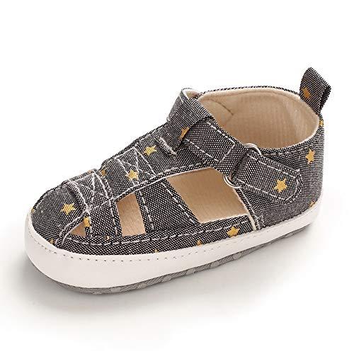 Zapatos Bebe Niño Primeros Pasos Verano Zapatillas Bebé Recién Nacido Gris 6-12 Meses