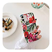 Jinyy ヴィンテージフローラルフォンケースforFor iPhone 12 Mini 11 Pro Max XS Max XR X 7 8 Plus SE 2020 6 6S 12 Pro Cute PlantsFundas裏表紙-T10-For iPhone 11