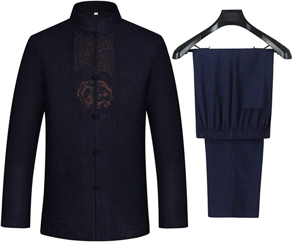 Tang Suit Men Hanfu Chinese Traditional Kung Very popular Un Fu Clothes Max 55% OFF Shirt