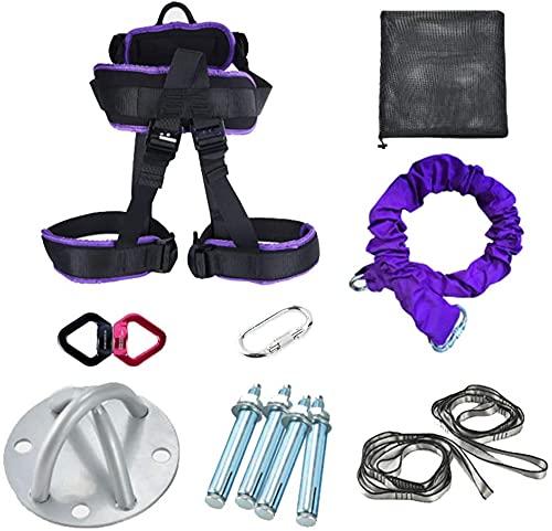 Cinturón de entrenamiento de yoga aéreo Resistencia de yoga Bandas elásticas de fitness Hogar Interior Hombres y mujeres Cuerda de vitalidad de fitness antigravedad Cuerda elástica de vitalidad aérea